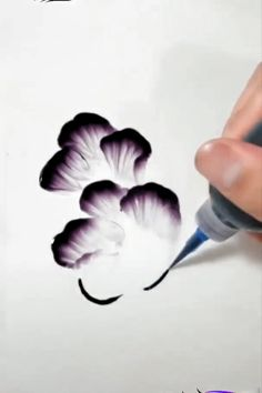Finger painting for adults. Pencil Art Drawings, Art Drawings Sketches, Easy Drawings, Acrylic Painting Techniques, Painting Videos, Music Painting, Food Painting, Painting Art, Finger Painting