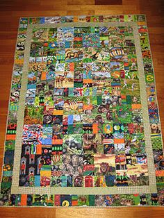 'Wilderness & World' I-Spy quilt by @Fiona Gregory
