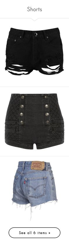 """""""Shorts"""" by agirlwithcharmingghosts ❤ liked on Polyvore featuring shorts, bottoms, pants, short, distressed shorts, flat-fronted shorts, sequined shorts, short shorts, sequin hot pants and balmain"""