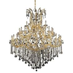 Elegant Lighting Maria Theresa 49 Light Crystal Chandelier Finish / Crystal Color / Crystal Trim: Chrome / Crystal (Clear) / Royal Cut