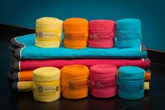 Candy colored polo-wraps! I'm in LOVE! Scapa Sports, spring-summer 2013