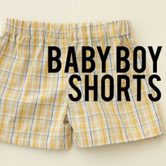 Zuzzy: Shorts for Baby Boy: free pattern :: TUTORIAL pantalón corto para niños Boys Sewing Patterns, Sewing For Kids, Pattern Sewing, Clothes Patterns, Sewing Ideas, Tutorial Sewing, Fabric Patterns, Baby Suspenders, Sewing Shorts