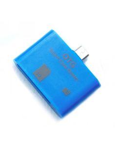 Micro USB OTG Connectionkit Blauw http://www.ovstore.nl/nl/micro-usb-otg-connectionkit-blauw.html