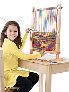 Ha! It reminds me of a modern warp-weighted loom. Can I get one? Does it have to be just for kids?