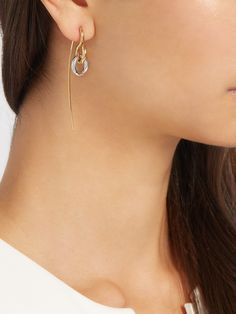 Swing Hook silver and gold-plated earring | Charlotte Chesnais | MATCHESFASHION.COM US