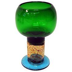 Lovely Art glass/Wine glass Pookali by Kaj Franck for Nuutajärvi, Finland, 1960s Pure Aesthetics, Wine Glass, Glass Art, Scandinavian Modern, Glass Design, Colored Glass, Pendant Lamp, Pure Products, Enamel