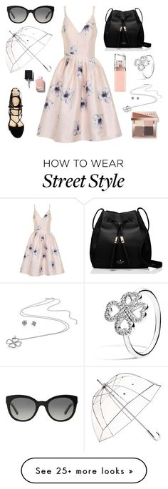 """""""Posh Style"""" by archdesign on Polyvore featuring Chi Chi, Marc Fisher, Kate Spade, Burberry, Totes, Pandora, Chanel, HUGO and Bobbi Brown Cosmetics"""