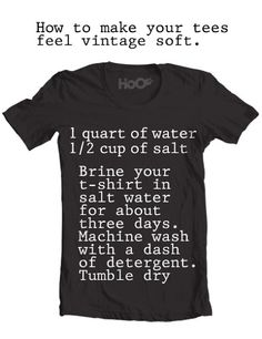 How to make your tee shirts feel vintage soft recipe » The Homestead Survival