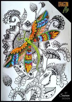 Dragonfly  #doodle #doodling #doodling #art #dragonfly #snoravndesign