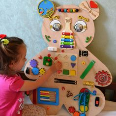 Animal Busy board Sensory board Latch board Toddler toy Busyboard Educational toy Fidget board Busy book Christmas baby toy Gift 2 year old - Sensory Play Ideas - Big Bear Busy board Activity board Montessori toys Wooden toys Toddler Boy Toys, Kids Toys, Baby Boy Toys, Children Games, Infant Activities, Activities For Kids, Sensory Activities, Painting Activities, Busy Boards For Toddlers