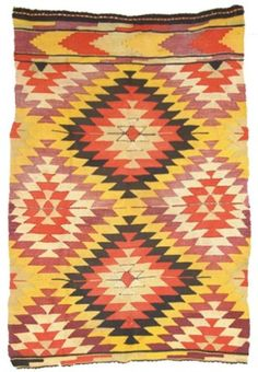 Navajo Looking Rug/Weaving for auction. This is a vintage rug that looks like a nice Germantown but is not Navajo. Native American Fashion, Native American Art, American Indians, Navajo Weaving, Navajo Rugs, Textiles, Beadwork, Beading, Native American Blanket