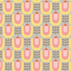 Line Up in Petal Pink by Eloise Renouf 1/2 Yard by Owlanddrum