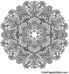 "Mandala Coloring Page 25 | free sample | Join fb grown-up coloring group: ""I Like to Color! How 'Bout You?"" https://m.facebook.com/groups/1639475759652439/?ref=ts&fref=ts"