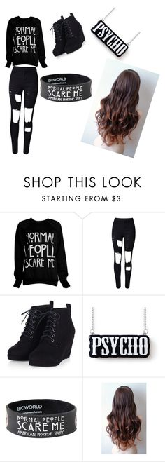 """American Horror Story"" by lexierose-1 ❤ liked on Polyvore featuring women's clothing, women, female, woman, misses and juniors"