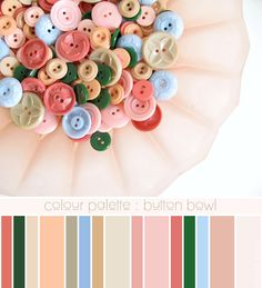 colour palette : button bowl - curated by Emma Lamb / image © emma lamb