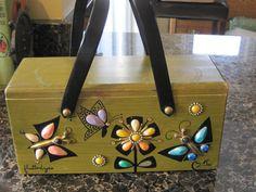 Enid Collins Vintage Box Purse, Circa 1960s, Flutterbyes. $48.00, via Etsy.