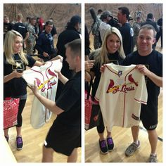 Cardinals sent jerseys to the troops in Germany.