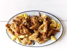 Parmesan-Garlic Chicken Wings recipe from Food Network Kitchen via Food Network