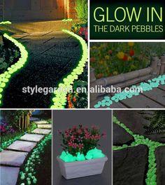 Source garden supplies glow in the dark pebble stone on m.alibaba.com
