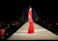 Gloria Estefan in NArcisso Rodriguez - The Heart Truth's Red Dress Collection 2012 Fashion Show