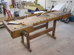 100 year old work bench....cool