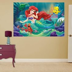 the little mermaid mural - Google Search