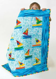 Dances with Waves free quilt pattern.