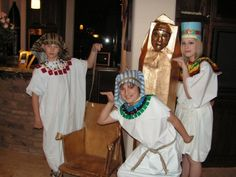 Benjamin's decided to be King Tut for his historical Halloween parade.