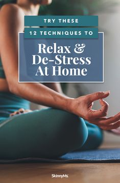 If you're feeling overwhelmed, try these techniques to relax and de-stress. They're incredibly effective and can be practiced from the comfort of your own home! Beginner Workout At Home, Yoga Routine For Beginners, Back Fat Workout, Workout For Flat Stomach, Lose Weight At Home, Sleep Remedies, Healthy Lifestyle Tips, Feeling Overwhelmed, Health Motivation