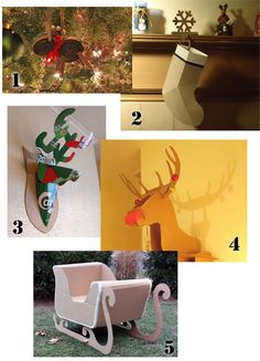 Cardboard christmas things diy