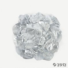 Silver Rose Petals (potential for cheesiness/cheapy looking)...may mix well with the other petals tho
