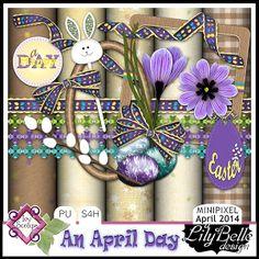 APR14Minipixel - AN APRIL DAY by LilyBelle Designs