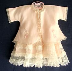 beautiful 1950s baby outfit. Vintage clothing can look so precious in photos. This site has some and a lot of times  you can get a steal on ebay.
