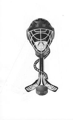 playing around with hockey tattoo designs