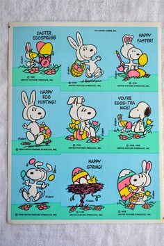 Hey, I found this really awesome Etsy listing at https://www.etsy.com/jp/listing/198919308/vintage-stickers-easter-bunny-snoopy-14