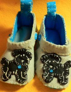 Boys toddler felt slippers $40.00