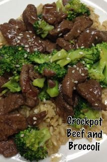 Making this for dinner for Jesse and I tonight! Sure hope it's good! - Crock Pot Beef and Broccoli recipe