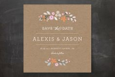 Crafted Primrose Save the Date Cards by Jennifer Wick at minted.com
