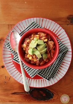 Easiest Slow Cooker Chicken Taco Chili.# slow cooker healthy recipes