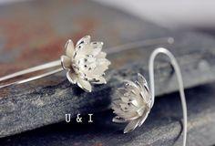 Silber Ohrringe - Ohrringe Silber Ohrhänger - ein Designerstück von U_and_I bei DaWanda