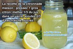Vous avez chaud ? Envie d'une boisson rafraîchissante ? Voici la boisson la plus désaltérante de l'été : la citronnade maison ! Ne vous inquiétez pas, cette recette est ultra simple à faire. En plus, cette recette est super économique, il suffit juste d'un citron. Voici comment faire votre citronnade maison en seulement 5 min. Regardez :