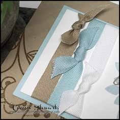 2-Minute Tuesday Tip - Creating perfect square knots - see the quick 2-Minute video at www.SimplySimpleStamping.com - look for the February 27, 2018 blog post
