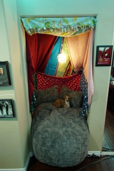 Jenna Marbles' dream corner, adult fort.