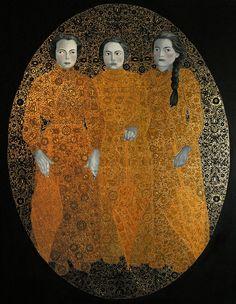 """Error II"" oil on canvas, schlagmetal, 130x100 cm 2012"