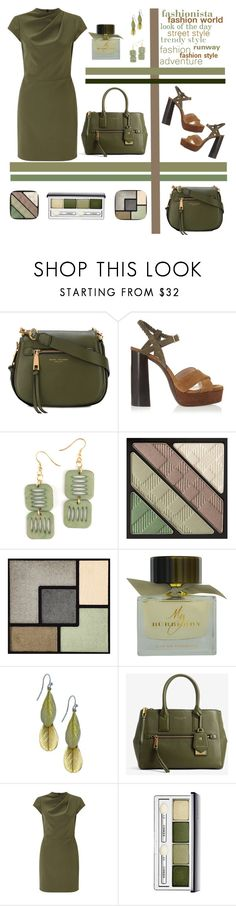 """""""Green fashionista"""" by puljarevic ❤ liked on Polyvore featuring Marc Jacobs, Lanvin, Burberry, Yves Saint Laurent, Miss Selfridge, Clinique, GREEN and fashionista"""