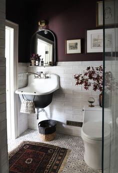 BARNHOUSE | Eggplant Paint Bathroom Refresh!
