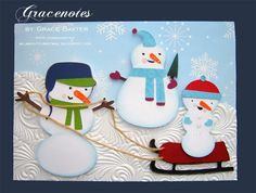 Absolutely adorable, love the textured white paper being used for snow.