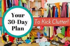 The thought of decluttering the entire house is overwhelming. But we& got a process to help you break this massive task into manageable pieces: a plan to less clutter. Clutter Organization, Household Organization, Organization Ideas, Organizing Tips, Getting Rid Of Clutter, Getting Organized, Clutter Control, Spark People, Declutter Your Home