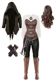 """Assassin& Creed """"Assassins Creed"""" by Gone-Girl… - clothing ideas, Medieval Dress, Medieval Fashion, Medieval Clothing, Medieval Girl, Medieval Outfits, Mode Steampunk, Steampunk Fashion, Steampunk Clothing, Cosplay Outfits"""