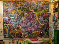 Jeff Parrott - Closer to Reality on his studio wall - Photograph Copyright 2015 JRCompton.com/birds   All Rights Reserved.